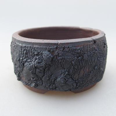 Ceramiczna miska bonsai 7,5 x 7,5 x 4 cm, kolor spękany - 1