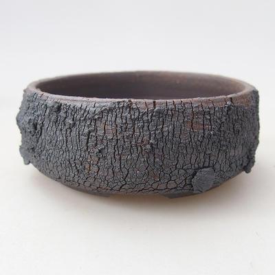 Ceramiczna miska bonsai 7,5 x 7,5 x 3 cm, kolor spękany - 1