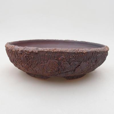 Ceramiczna miska bonsai 17,5 x 17,5 x 5 cm, kolor spękany - 1