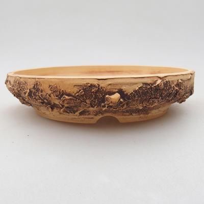 Ceramiczna miska bonsai 15 x 15 x 3 cm, kolor spękany - 1