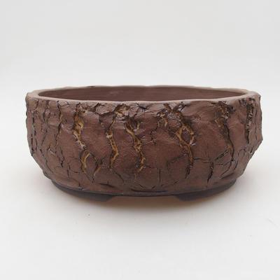 Ceramiczna miska bonsai 19 x 19 x 7 cm, kolor spękany - 1