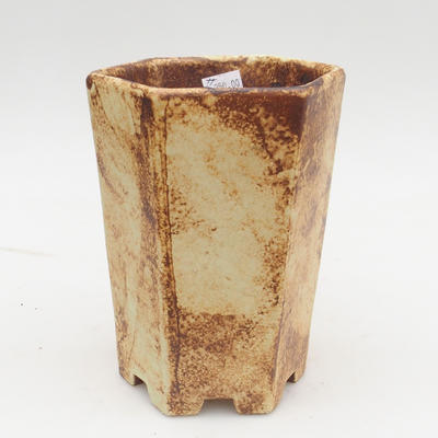 Ceramiczna miska bonsai 2. jakości - 13 x 11 x 17 cm, kolor brązowo-żółty - 1