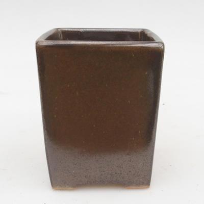 Ceramiczna miska bonsai 2. jakości - 8 x 8 x 10 cm, kolor zielony - 1