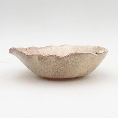 Ceramiczna miska bonsai 2. jakości - 18 x 18 x 5 cm, kolor beżowy - 1