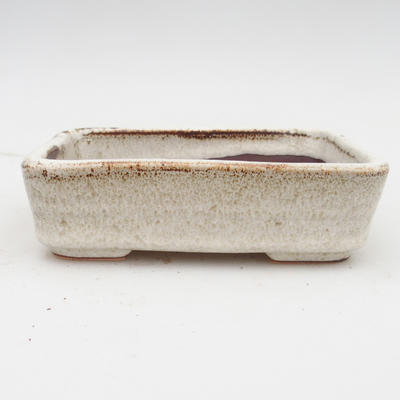 Ceramiczna miska bonsai 2. jakości - 14 x 10,5 x 4,5 cm, kolor beżowy - 1