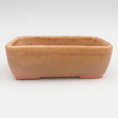 Ceramiczna miska bonsai 2. jakości - 16 x 10 x 5,5 cm, kolor brązowo-różowy - 1