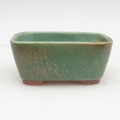 Ceramiczna miska bonsai 2. jakości - 13 x 10 x 5,5 cm, kolor brązowo-zielony - 1