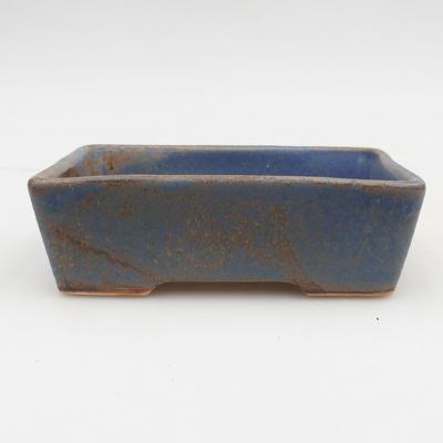 Ceramiczna miska bonsai 2. jakości - 12 x 9 x 3,5 cm, kolor brązowo-niebieski - 1