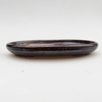 Ceramiczna miska bonsai 2. jakości - 17 x 12 x 2 cm, kolor brązowy - 1