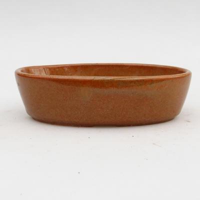 Ceramiczna miska bonsai 2. jakości - 15 x 9 x 4 cm, kolor brązowy - 1