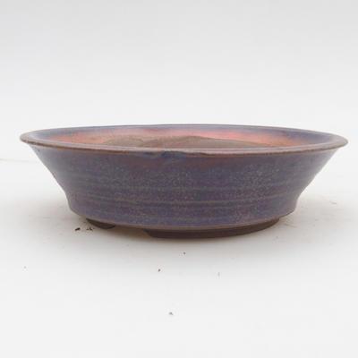 Ceramiczna miska bonsai 2. jakości - 16 x 16 x 4 cm, kolor niebieski - 1