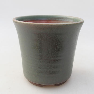 Ceramiczna miska bonsai 10 x 10 x 9,5 cm, kolor zielony - 1