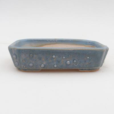 Ceramiczna miska bonsai 2. jakości - 12 x 9 x 3 cm, kolor niebieski - 1
