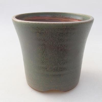 Ceramiczna miska bonsai 10 x 10 x 9 cm, kolor zielony - 1