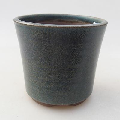 Ceramiczna miska bonsai 9 x 9 x 8 cm, kolor niebieski - 1