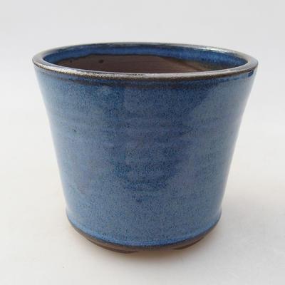 Ceramiczna miska bonsai 10 x 10 x 8,5 cm, kolor niebieski - 1