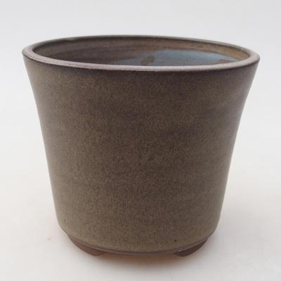 Ceramiczna miska bonsai 9,5 x 9,5 x 8 cm, kolor szary - 1