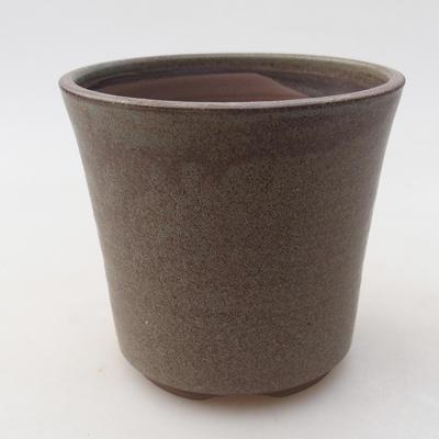 Ceramiczna miska bonsai 9,5 x 9,5 x 9 cm, kolor szary - 1