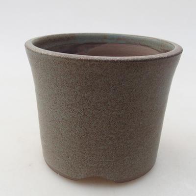 Ceramiczna miska bonsai 9 x 9 x 7 cm, kolor szary - 1