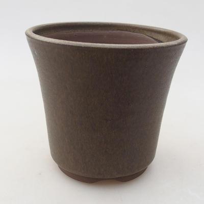 Ceramiczna miska bonsai 10 x 10 x 9 cm, kolor brązowy - 1