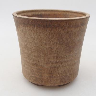 Ceramiczna miska bonsai 9,5 x 9,5 x 9 cm, kolor beżowy - 1
