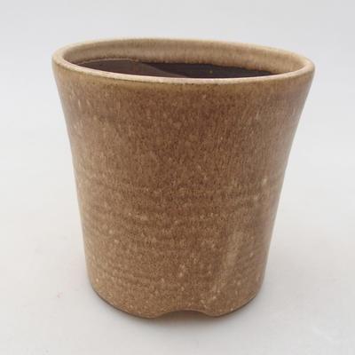 Ceramiczna miska bonsai 9 x 9 x 9 cm, kolor beżowy - 1