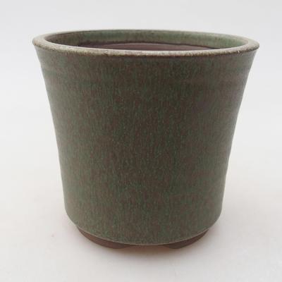 Ceramiczna miska bonsai 9 x 9 x 8,5 cm, kolor zielony - 1