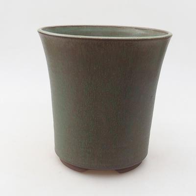 Ceramiczna miska bonsai 15 x 15 x 16 cm, kolor zielony - 1
