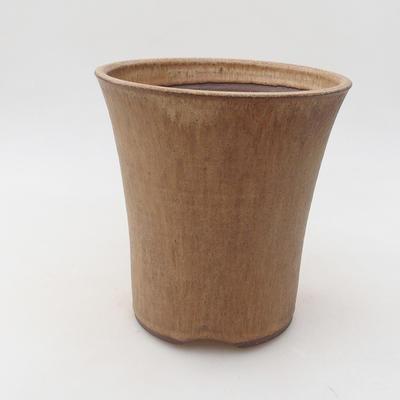 Ceramiczna miska bonsai 15 x 15 x 16 cm, kolor beżowy - 1