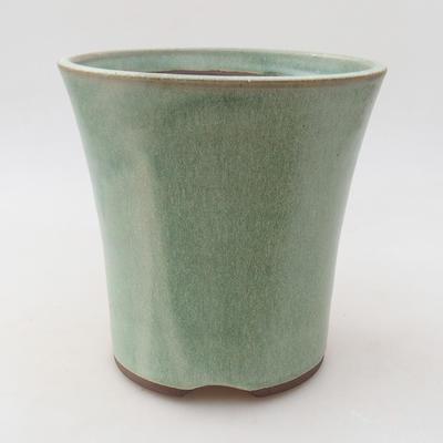 Ceramiczna miska bonsai 15 x 15 x 15 cm, kolor zielony - 1