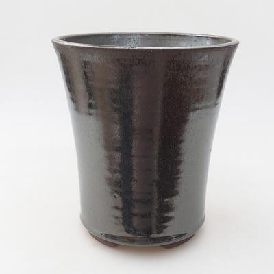 Ceramiczna miska bonsai 14,5 x 14,5 x 17 cm, kolor zielony - 1