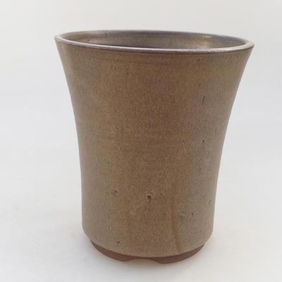 Ceramiczna miska bonsai 14,5 x 14,5 x 16,5 cm, kolor brązowy - 1