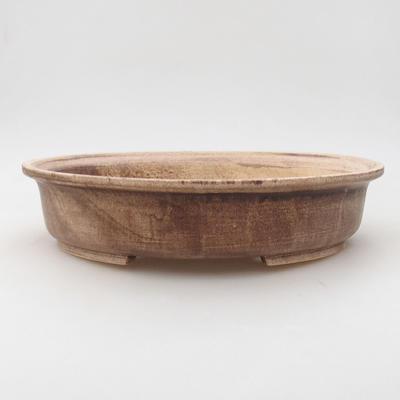 Ceramiczna miska bonsai 28 x 25 x 6 cm, kolor brązowy - 1