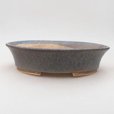 Ceramiczna miska bonsai 26,5 x 21,5 x 6 cm, kolor niebieski - 1