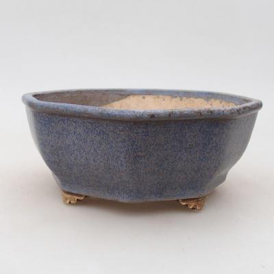 Ceramiczna miska bonsai 15,5 x 15,5 x 6,5 cm, kolor niebieski - 1