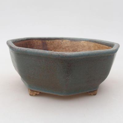 Ceramiczna miska bonsai 15,5 x 15,5 x 6,5 cm, kolor zielony - 1