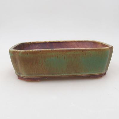 Ceramiczna miska bonsai 20 x 17 x 5,5 cm, kolor zielony - 1