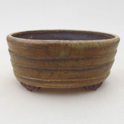 Ceramiczna miska bonsai 10,5 x 9 x 4,5 cm, kolor zielony - 1
