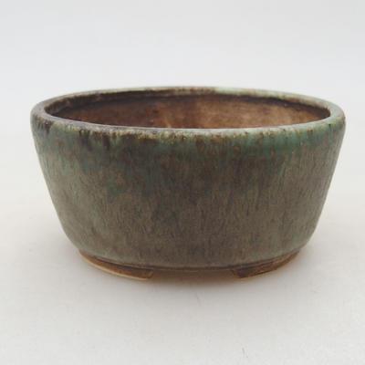 Ceramiczna miska bonsai 7,5 x 6,5 x 3,5 cm, kolor zielony - 1