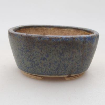 Ceramiczna miska bonsai 7,5 x 6,5 x 3,5 cm, kolor niebieski - 1