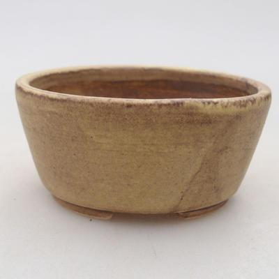 Ceramiczna miska bonsai 7,5 x 6,5 x 3,5 cm, kolor żółty - 1