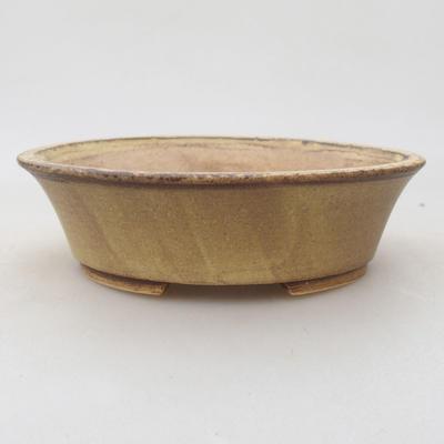 Ceramiczna miska bonsai 14 x 12 x 3,5 cm, kolor żółty - 1