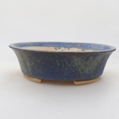 Ceramiczna miska bonsai 14 x 12 x 3,5 cm, kolor niebieski - 1