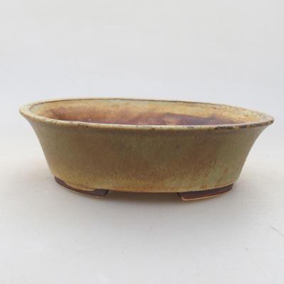 Ceramiczna miska bonsai 14 x 12 x 3,5 cm, kolor zielony - 1