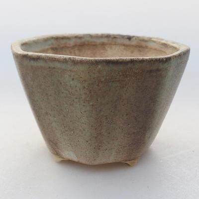 Ceramiczna miska bonsai 8,5 x 8,5 x 5,5 cm, kolor zielony - 1