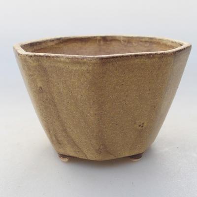 Ceramiczna miska bonsai 8,5 x 8,5 x 5,5 cm, kolor żółty - 1