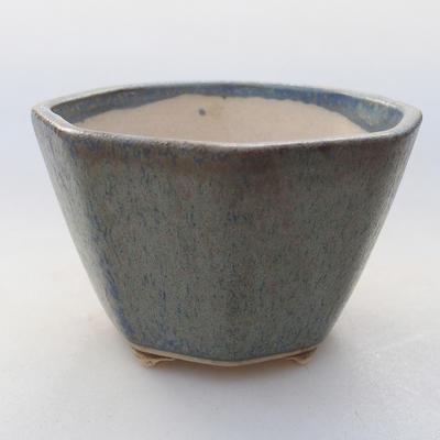 Ceramiczna miska bonsai 8,5 x 8,5 x 5,5 cm, kolor niebieski - 1