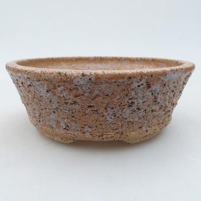 Ceramiczna miska bonsai 14,5 x 14,5 x 5 cm, kolor brązowy - 1