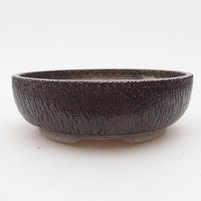 Ceramiczna miska bonsai 18 x 18 x 6 cm, kolor brązowy - 1