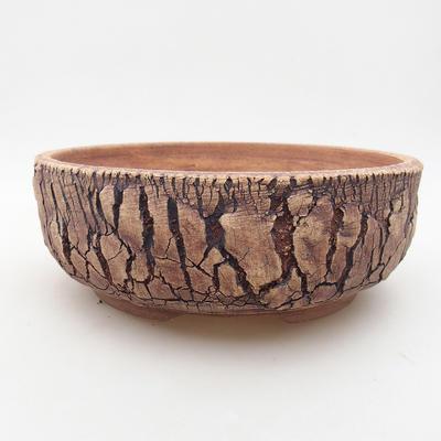 Ceramiczna miska bonsai 20 x 20 x 7 cm, kolor szary - 1